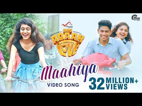 Oru Adaar Love   Maahiya Video Song   Noorin Shereef, Roshan, Priya Varrier  Shaan Rahman  Omar Lulu