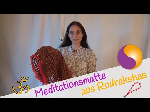 Meditationsmatte aus Rudrakshas