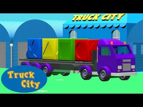 Farben- und Formenlernen mit den Trucks I Truckstadt Baufahrzeug-Cartoons für Kinder