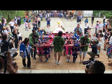 2017年魚津八幡宮神輿祭り 上口保育園