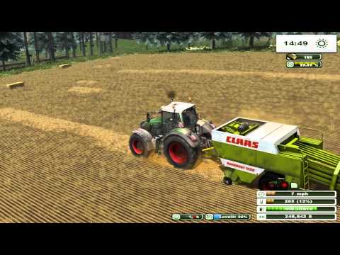 farming simulator 2013 just a baling that kind of day on two rivers map pt 21