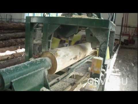 Производство оцилиндрованного бревна
