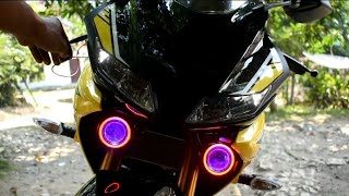 """Video WOW, COOL!! modif """"similar"""" R1M with pairs of led cree u7 transformers in yamaha all new r15 v3 2018 MP3, 3GP, MP4, WEBM, AVI, FLV November 2018"""