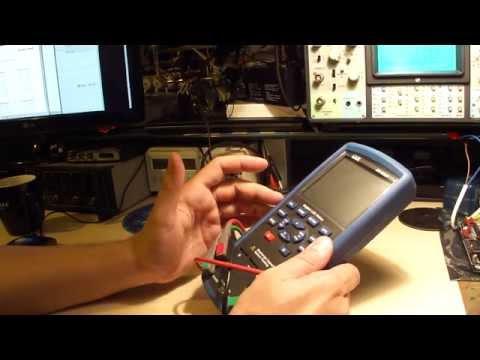 Видео Измеритель сопротивления изоляции с True RMS мультиметром DT-9985