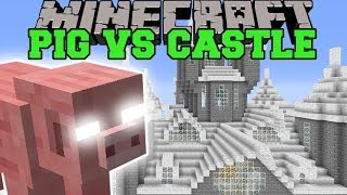 PIGZILLA MOD VS CASTLE LIVIDUS - Minecraft Mods Vs Maps (Pig Meteors!)
