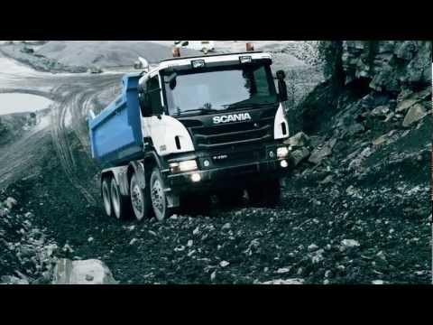 Грузовики Scania Off-road trucks in action