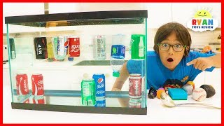 Sink or Float Density Experiments for Kids with Soda!!!!
