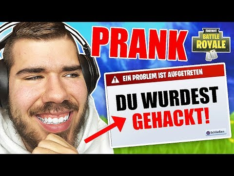 Fortnite *ACCOUNT Von YouTuber GEHACKT!* - PRANK An Fans