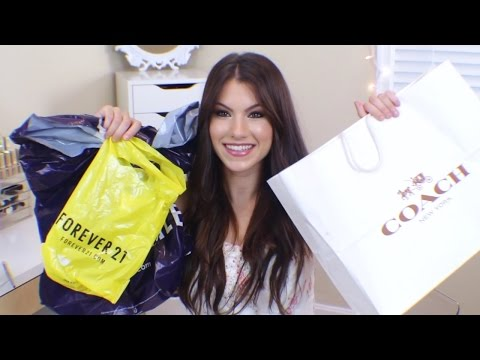 HUGE Fall Haul 2014!! (w/ Try Ons!) Forever21, Aeropostale, Coach, & Express