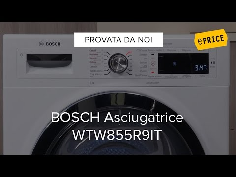 Video Recensione Asciugatrice Bosch WTW855R9IT