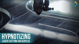 hypnotizing laser cutting on acrylic.