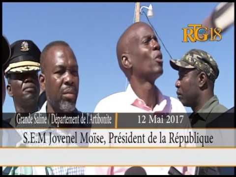 Le Président Jovenel Moïse a visité la commune de petite rivière de l'Artibonite.