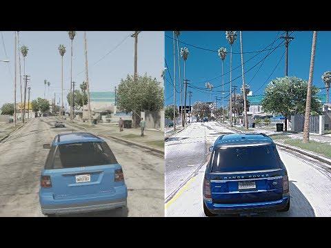 GTA 5 Xbox 360 vs $10,000 Gaming PC! Ultra-Realistic GTA 6 4k 60FPS Graphics Mod!