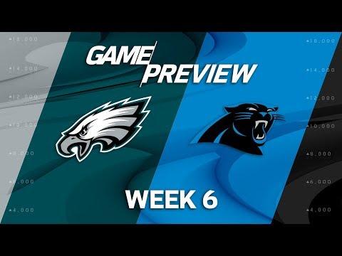 Video: Philadelphia Eagles vs. Carolina Panthers | Week 6 Game Previews | NFL Playbook