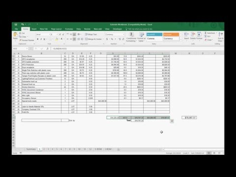 Excel Estimating Review