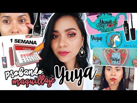 Videos de uñas - UNA SEMANA USANDO EL MAQUILLAJE DE YUYA  Karla Burelo :)