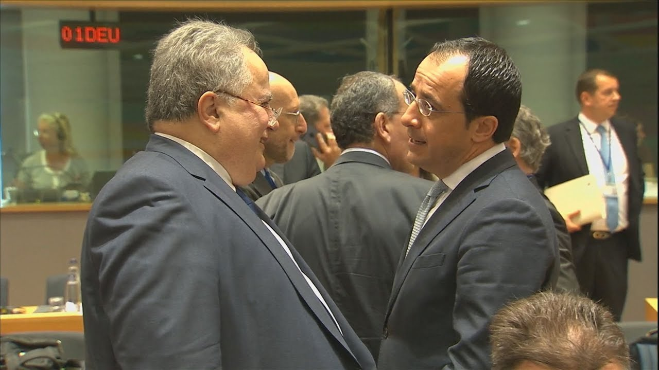 Eσωτερικά πλάνα από το Συμβούλιο Υπουργών Εξωτερικών της ΕΕ