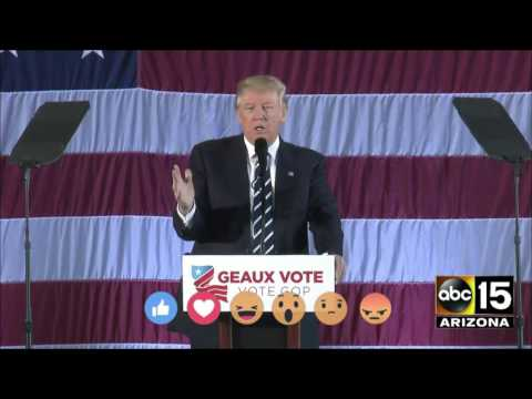 Donald Trump on his new relationship with President Obama - Baton Rouge, LA (видео)
