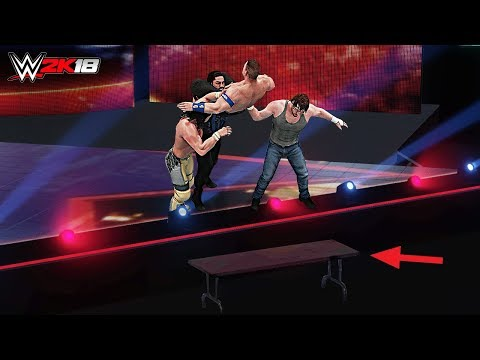 WWE 2K18 Top 10 Extreme Finishing Moves on the Stage!!