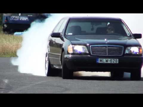 Mercedes S 600 V12 Biturbo 0-270km/h acceleration, and burnout || KO 860 (видео)