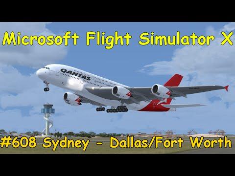 Let's Play Microsoft Flight Simulator X Teil 608 Sydney - Dallas/Fort Worth [1/5] A380 | Liongamer1