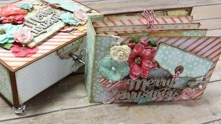 In this video I show you how I tackle Embellishing my Mini Album for the Large Keepsake Box & Mini Album. You get to see a little more into my process! Hope ...