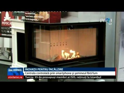 Centrala termică controlată prin smartphone şi şemineul fără fum, la o expoziţie în Cluj-Napoca