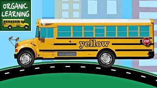 School Buses Teaching Colors - Learning Colours Video for Kids
