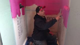 Waterproofing a shower Reel