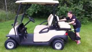 5. GAS Club Car Precedent with 11hp Kawasaki Engine, Rear Seat & Lights
