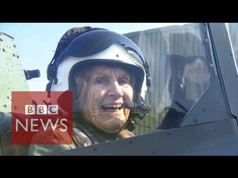 92Year Old World War II Fighter Pilot Flies a Spitfire
