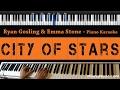 Download Video Ryan Gosling & Emma Stone - City of Stars - Piano Karaoke / Sing Along / Cover with Lyrics
