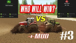Faming Simulator 17: MUD vs JOHN DEERE vs MASSEY FERGUSON!! WHO WILL WIN? #3 💪 - POWER TEST!!! 💪