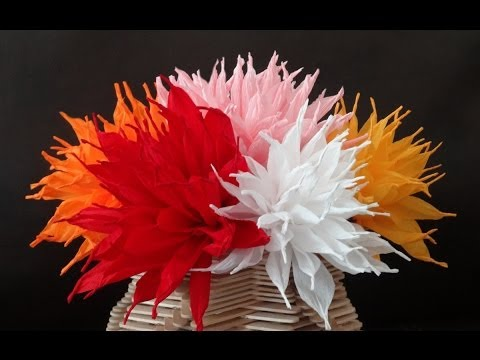 How to make beautiful paper flowers / DIY Valentine's day craft
