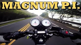 Video To Magnum PI Robin's Nest in Hawaii on a Triumph Thruxton Ace - 2 Days MP3, 3GP, MP4, WEBM, AVI, FLV Agustus 2019