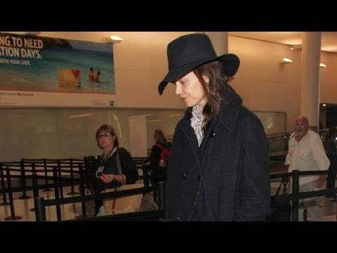 Katie Holmes Goes Make Up Free At LAX