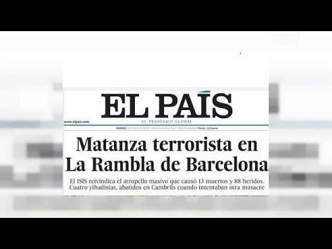 Η επίθεση στην Βαρκελώνη στα πρωτοσέλιδα
