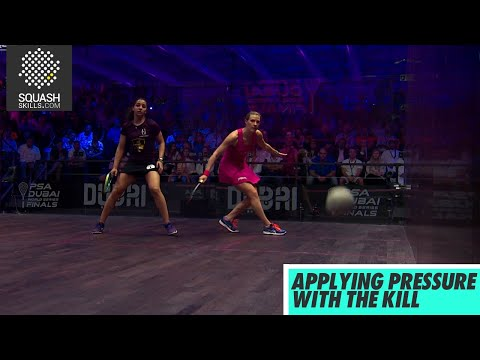 Squash tips: Applying Pressure with the Kill with Laura Massari