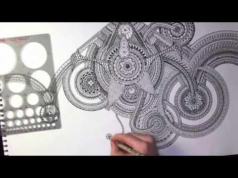 Drawing a Huge Mandala (400x Speed Edit)