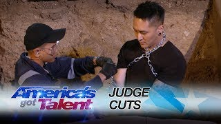 Demian brings his dangerous escape act to the outdoors and gets buried alive. » Get The America's Got Talent App: http://bit.ly/AGTApp » Subscribe for More: ...