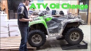 9. Full Size Arctic Cat ATV Oil Change || DIY & SAVE MONEY!