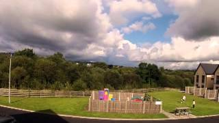 Irish cumulus clouds over children's playpark, Killaloe (time lapse)