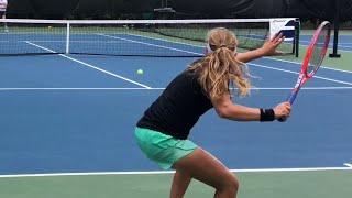 Video Tennis Training Coach Dabul with Flor Urrutia soon D1 college player (Nadal, Federer, Murray drills) MP3, 3GP, MP4, WEBM, AVI, FLV Agustus 2019