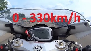 2. MV Agusta F4 RR - Acceleration 0-330km/h & Startup & Exhaust Sound & Dyno