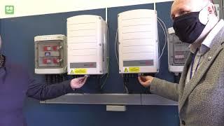 Panele fotowoltaiczne za ujęciu wody MZWiK