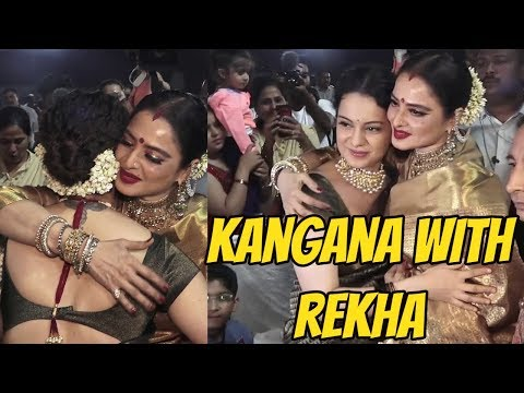 Queen Meets Queen | Kangna Ranaut with REKHA At The Red Carpet Of 'Marathi Tarka