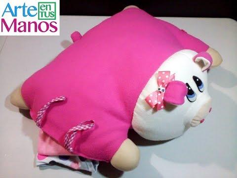 feltro - come realizzare un grazioso cuscino porta pigiama