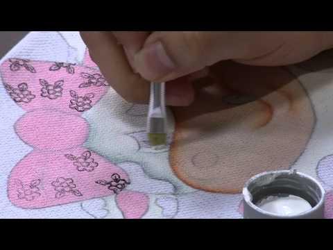 Mulher.com 11/09/2014 - Pintura Tecido Vaquinha por Thanynha Avila