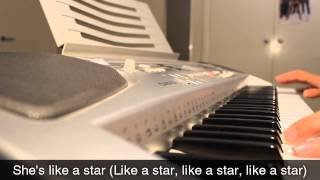 Taio Cruz - She's Like A Star - Piano Cover & Lyrics