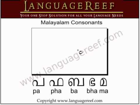 Learn to write malayalam consonants